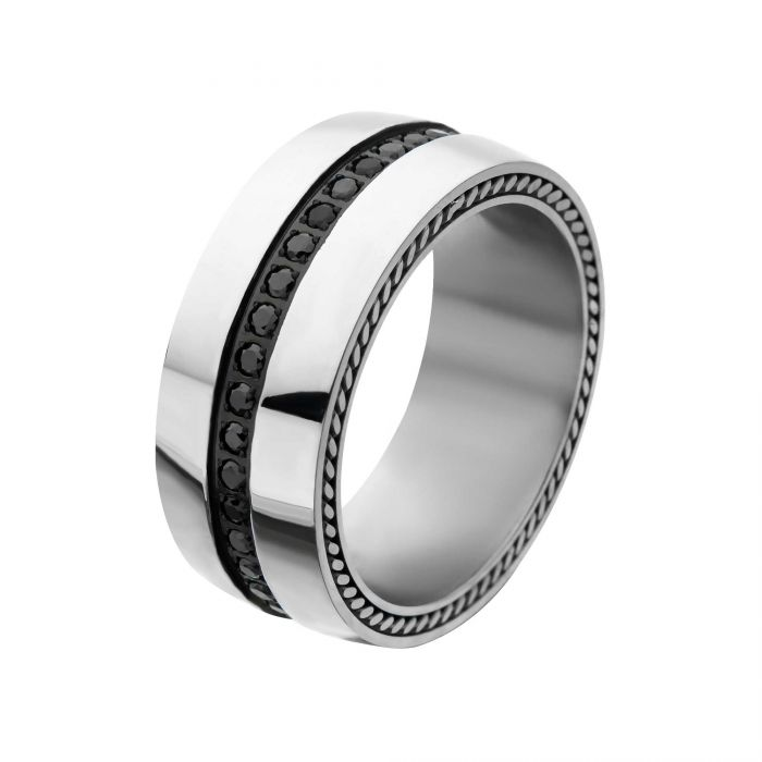 INOX JEWELRY Men/'s Stainless Steel Contemporary Ring Size 9-12 NEW